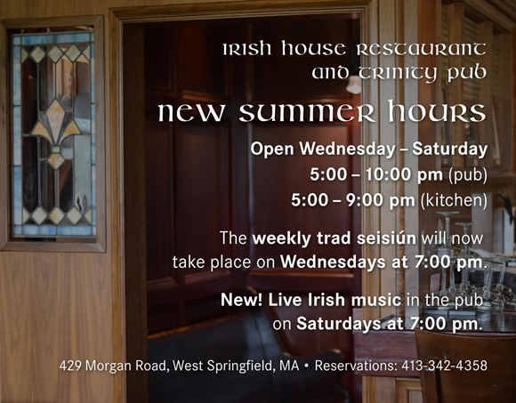 Irish House Hours