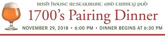 1700's Pairing Dinner