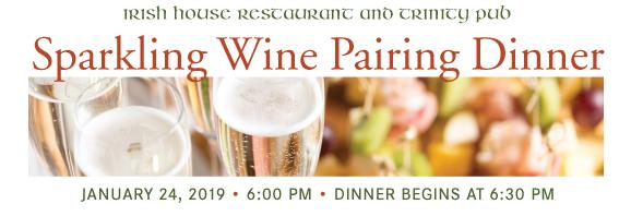 Sparkling Wine Pairing Dinner