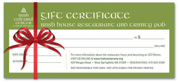 Gift certificates for holiday