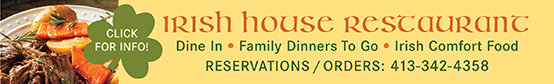 Irish House Restaurant Dine In or Take Out