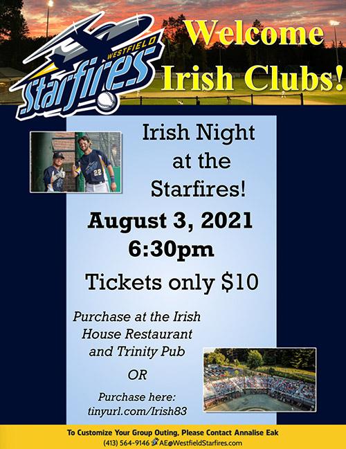 Westfield Starfires Irish Night